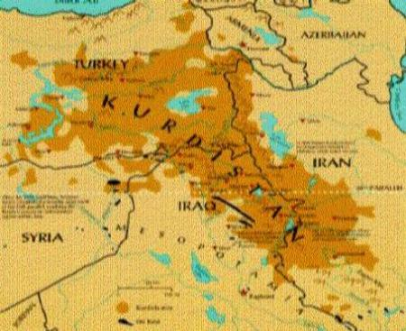 A different map of Kurdistan Area
