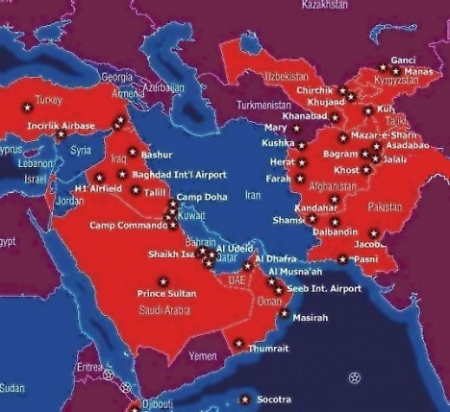 First, a map showing 50 U.S. bases in the area.  The Saudi one is gone now, as they asked us to leave